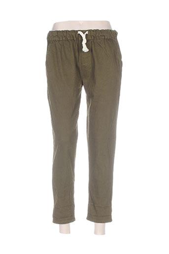 Pantalon casual vert BESH pour femme