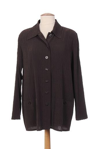 markwald vestes femme de couleur marron