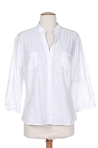 finette chemises femme de couleur blanc