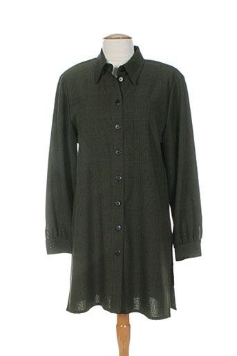 jean claire tuniques femme de couleur vert