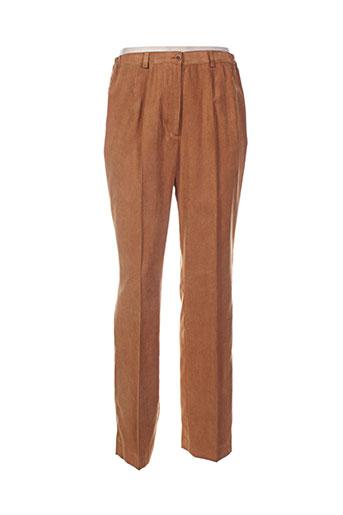 Pantalon chic marron B DE BREL pour femme
