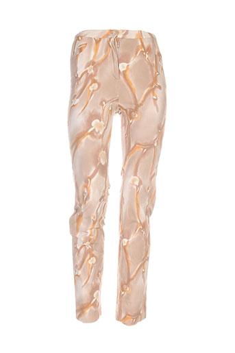 Pantalon casual marron ANNE D'ALETH pour femme