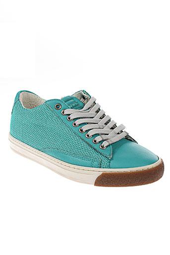 quattrobarradodici chaussures femme de couleur vert