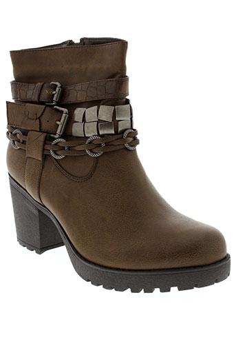 j&j the original chaussures femme de couleur marron