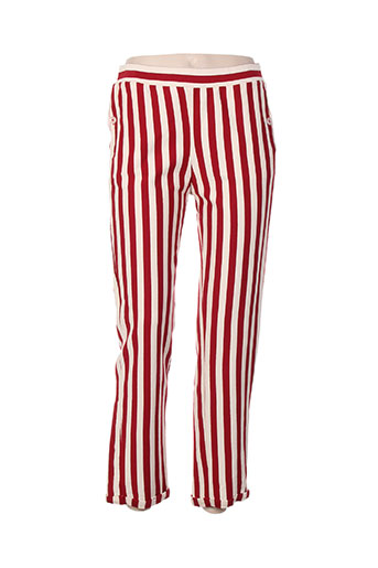 pluto on the moon pantalons femme de couleur rouge