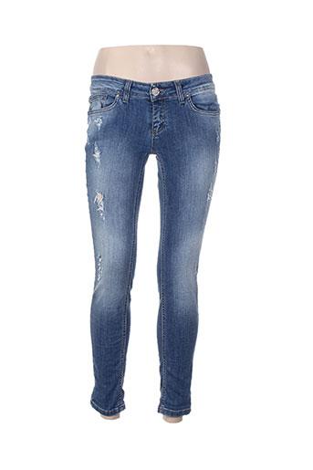 motel jeans femme de couleur bleu