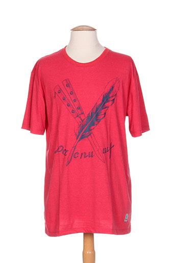palam t-shirts homme de couleur rouge