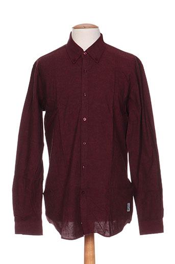 palam chemises homme de couleur rouge