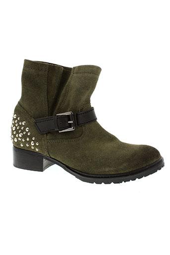 paradoxale chaussures femme de couleur vert