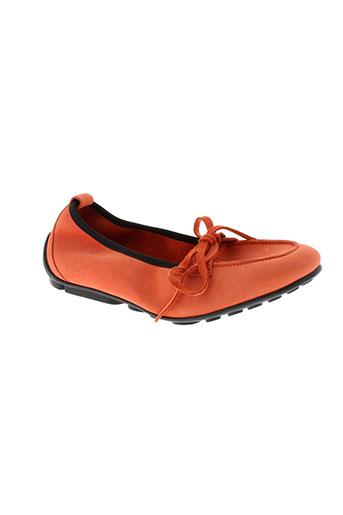arche chaussures femme de couleur orange