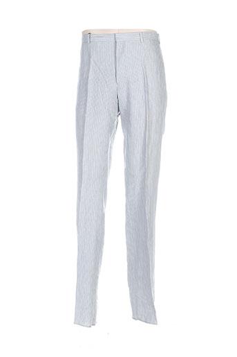 bernard zins pantalons homme de couleur gris