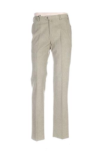 bernard zins pantalons homme de couleur vert