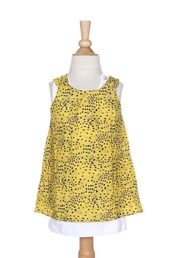 ikks robes fille de couleur jaune