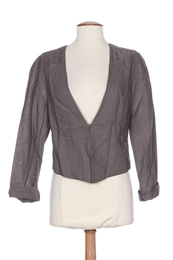 a belle by j.e creation vestes femme de couleur gris