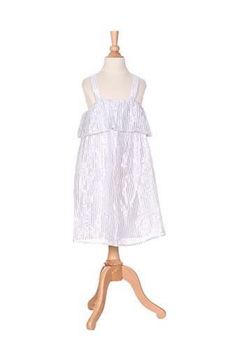 carrement beau robes fille de couleur blanc