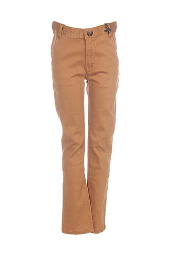 ikks pantalons garçon de couleur marron