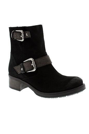 myma bottines femme de couleur noir