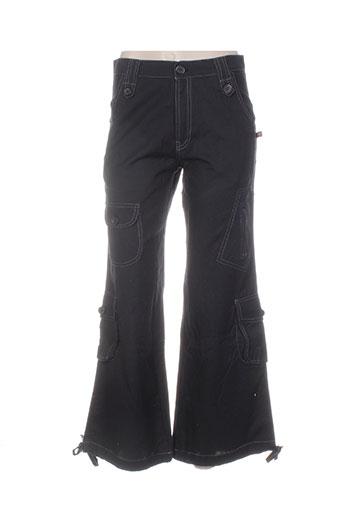 bamboo's pantalons femme de couleur noir