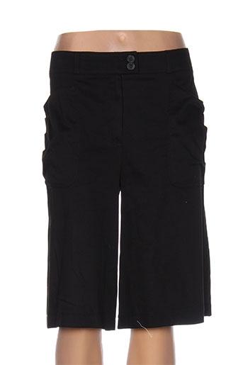 quattrobarradodici shorts / bermudas femme de couleur noir