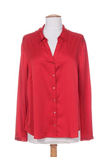 christine laure chemises femme de couleur rouge