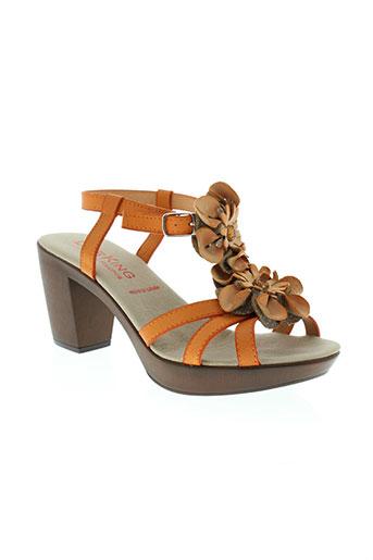 dorking chaussures femme de couleur orange