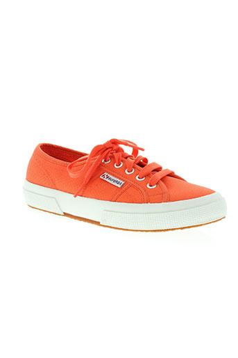 superga chaussures femme de couleur orange
