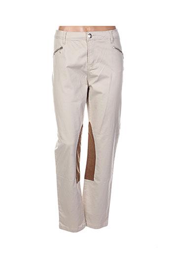votre nom pantalons femme de couleur beige