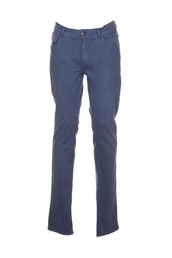 blend pantalons homme de couleur bleu