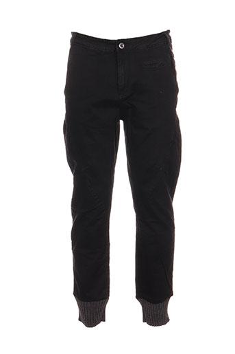 gaudi pantalons homme de couleur noir