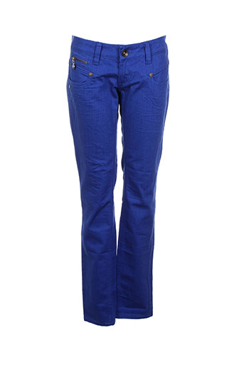 freeman t.porter pantalons femme de couleur bleu