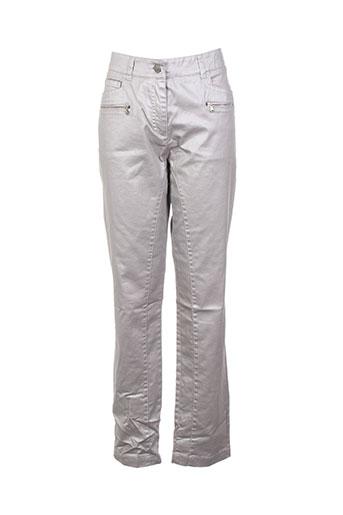 voodoo pantalons femme de couleur gris