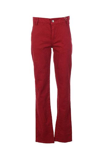 garcia pantalons fille de couleur rouge
