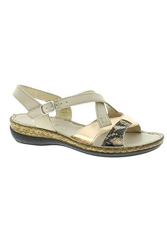green hill chaussures femme de couleur beige