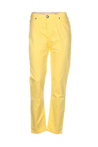 emma EFFI_CHAR_1 caro pantalons femme de couleur jaune