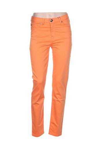 emma EFFI_CHAR_1 caro pantalons femme de couleur orange