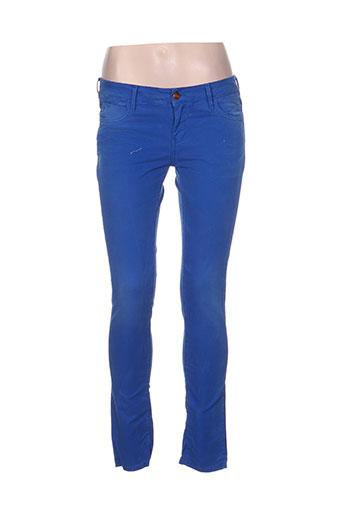 reiko jeans femme de couleur bleu
