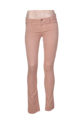 acquaverde jeans femme de couleur beige