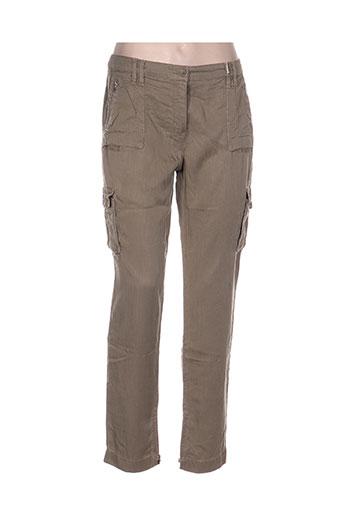 pablo gerard darel pantalons femme de couleur vert