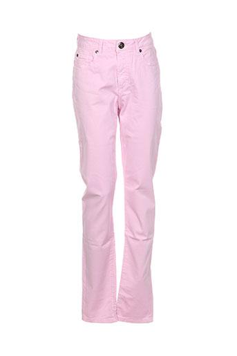 emma EFFI_CHAR_1 caro pantalons femme de couleur rose