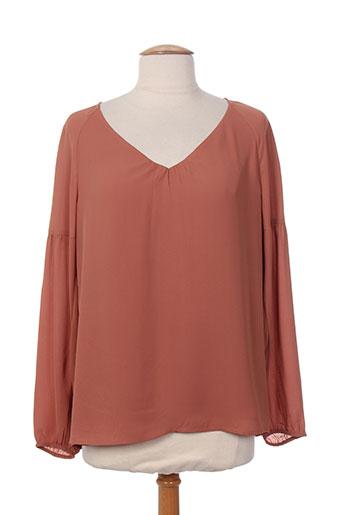 comma chemises femme de couleur marron