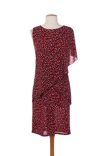 lonkel robes femme de couleur rouge