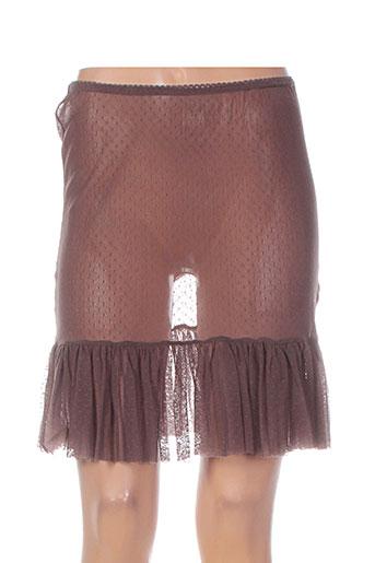 maloka jupes femme de couleur marron