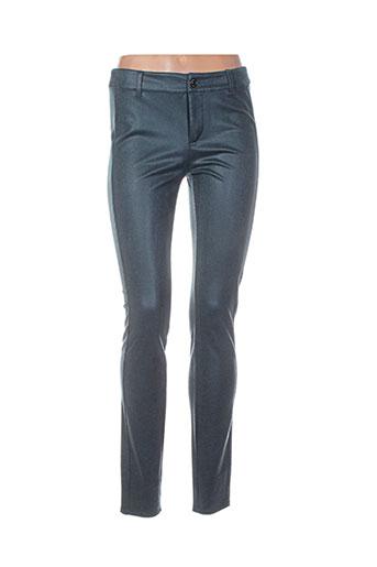 Pantalon casual vert COMMA, pour femme