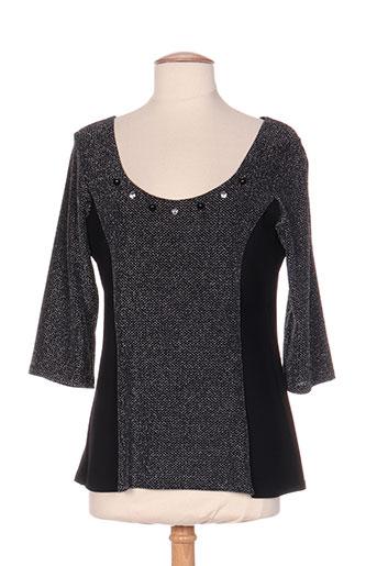 bleu d'azur t-shirts femme de couleur noir