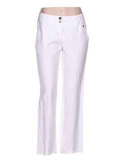 Pantalon casual blanc MADO ET LES AUTRES pour femme