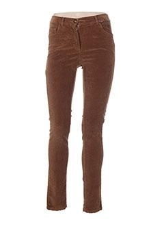 Pantalon casual marron PAUL BRIAL pour femme