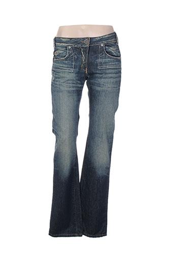 cheyenne jeans femme de couleur bleu