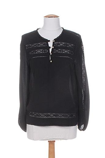 rivieres de lune chemises femme de couleur noir