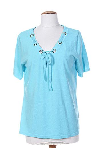 passioni chemises femme de couleur bleu