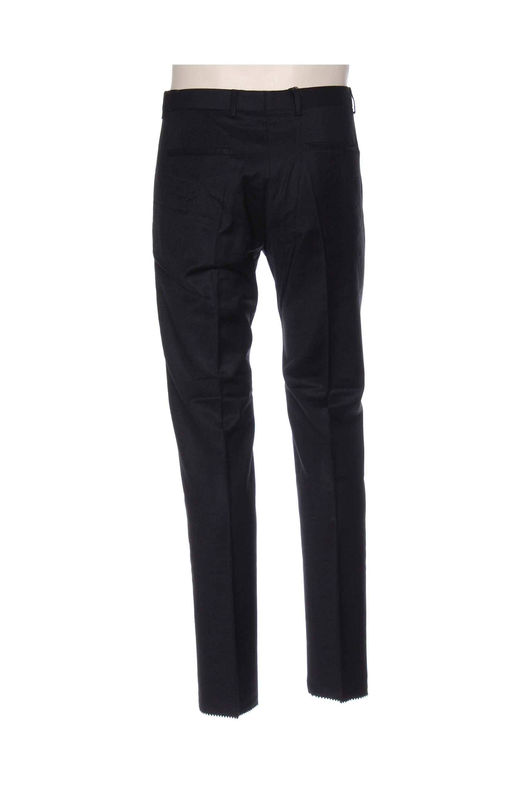 Strellson Pantalons Citadins Homme De Couleur Noir En Soldes Pas Cher 1047427-noir00